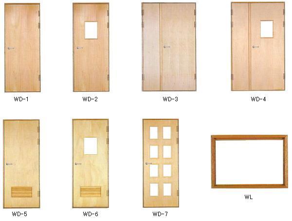 ソフトカーム木製放射線防護扉・覗窓 製品図