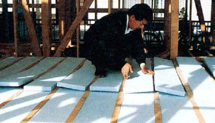 スタイロフォーム床断熱材「パタパタ」の施工例