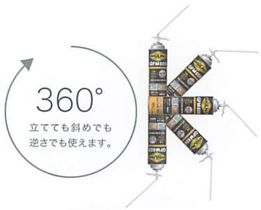 インサルパック GFM600 360°噴出可能