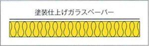 断面図=ハイラートンPF 天井板グラスウール