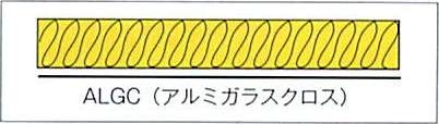 断面図=グラスロン波型保温板
