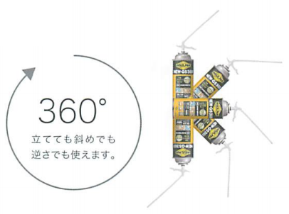 インサルパック GS360/GS360ロングは360°吐出
